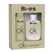 Bi-es OK for Everyone SET: Toaletná voda 100ml + Deodorant 150ml (Alternatíva vône Calvin Klein One)