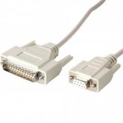Cablu conexiune RS-232 imprimanta bonuri, imprimanta etichete 2.9 m alb