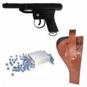Prijam Air Gun Cb-007 Model With Metal Body For Target Practice Combo Offer 300 Pellets With Cover Air Gun