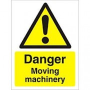 Unbranded Warning Sign Moving Machinery Vinyl 30 x 20 cm