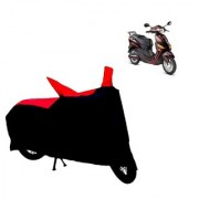 AutoAge Two Wheeler Red+Black Cover for Hero Electric Bikes Electric Optima Plus