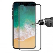 HAT PRINCE 3D Curved előlapvédő karcálló edzett üveg - 9H, 0,26mm, A TELJES ELŐLAPOT VÉDI! - FEKETE - APPLE iPhone X / APPLE iPhone XS - GYÁRI