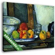 Paul Cézanne: Csendélet nyitott fiókkal (30x25 cm, Vászonkép )