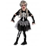 Vegaoo.es Disfraz de esqueleto vivo niña - S 4-6 años (110-120 cm)