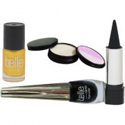 Set of 1 Kajal + 1 Nail paint +1 Eyeliner +1 Compact