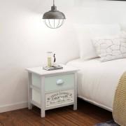 vidaXL Mesa de cabeceira estilo francês madeira
