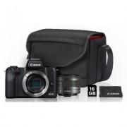 Canon Aparat CANON EOS M50 Czarny + EF-M 15-45mm + Torba SB130 + Karta pamięci 16GB