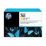 HP 761 Yellow Designjet Ink Cartridge, 400-ml (CM992A)