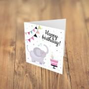 Felicitare cadou HAPPY BIRTHDAY elefantel