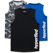 Hyperfied Bounce Tanktop 3er Pack, Black/Camo Black/Blue 130