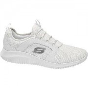 Skechers Witte sneaker elastische veter