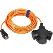 Verlengsnoer 25M PUR kabel 3x1,5mm² 3-voudig oranje