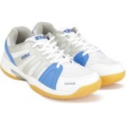 Stag Olympia Badminton Shoes For Men(Blue, Grey, White)