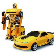 skent robot car Robot Races Car Toy (Battery Operated) 2 in 1 Transform with Bright Lights and Music (Multi-colour)