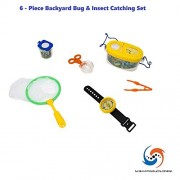 M & M Products Online Childrens Backyard Adventure Bug Catching Set! Comes with 6 Pieces Perfect for Catching All Sorts of Insects! By