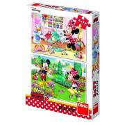 Puzzle 2 in 1 Minnie la treaba, 77 piese, 4-8 ani