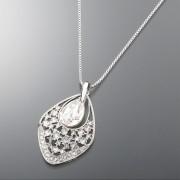 FA ドロップスイングペンダント スワロフスキー・クリスタル使用【QVC】40代・50代レディースファッション