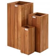 Intergard Jardiniere bois dur carré 70x30x30cm