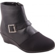 Adorn Active and Stylish Boots Shoe For Women(Black)