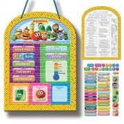 Veggie Tales Daily Magnetic Calendar Board (00797)