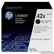HP 42X 2-pack High Yield Black Print Cartridge (Q5942XD)