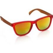 Joe Black Wayfarer Sunglasses(Yellow, Red)