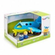 Avion culori vesele cu 2 figurine - Jumbo