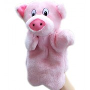 SUNONE11 Lovely Pink Pig Hand Puppet Baby Kids Child Educational Soft Doll Plush Toy Zoo Friends Animals Glove Puppets