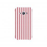 Funda Case Samsung Galaxy J1 Ace - Lineas 3 Rojo Blanco Cruz