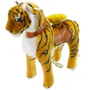 PonyCycleShop Official Riding Toy Mechanical Walking Tiger Medium N4113