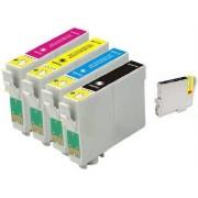Printflow Compatível: Pack 5 Tinteiros Epson T1291 (2) + T1292 + T1293 + T1294