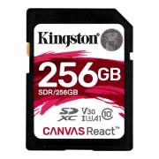 Kingston SDXC Canvas React 256GB Class 10 UHS-I V30 A1 Class 10 100MB/s