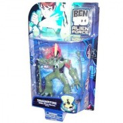 Ben 10 Alien Force 6 Inch Tall DNA Alien Heroes Action Figure - SWAMPFIRE with Swamp Slime Shooter and Missile Launcher
