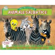 Cartea mea cu puzzle-uri Corint BABY LOONEY TUNES animale salbatice numar pagini 12