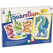 SentoSphere Aquarellum Junior - Dragons - Arts and Crafts Watercolor Paint Set