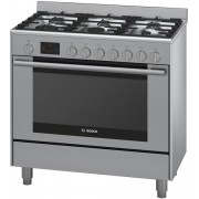 Bosch 90cm Serie 6 Freestanding Dual Fuel Oven/Stove (HSB738357A)