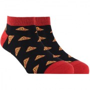 Soxytoes Pizza Is Bae Black Cotton Ankle Length Pack of 1 Pair Unisex Casual Socks (STS0111)