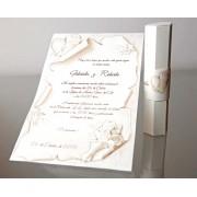 Invitatie nunta tip papirus cod 34953