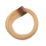 Rapunzel® Extensions Naturali Quick & Easy Premium Liscio R5.0/8.3 Brown Honey Blonde Root 40 cm