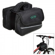 B-ALMA YA028 resistente al agua para bicicleta tubo superior Saddle Bag - Negro