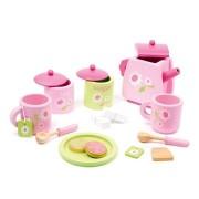 Fa teáskészlet - Rózsaszín