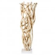 Maisons du Monde Figura de ramas de viña y metal blanco Alt.120