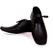 Sam Stefy Broad Shaped Casuals Shoes For Men(Black)