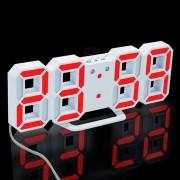 Despertador digital del LED 3D? reloj de mesa moderno del escritorio de la pared con snooze - luz roja