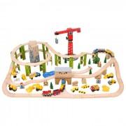 Circuit auto si feroviar - Santierul (116 piese)