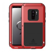 LOVE MEI Shockproof Dropproof Dustproof Phone Case for Samsung Galaxy S9+ SM-G965 - Red