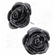 boucles d`oreilles Noire Rose - ALCHEMY GOTHIC - E339