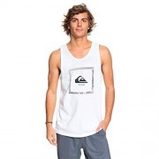 Quiksilver Beat The Heat Tank Playera sin Mangas para Hombre, Blanco, Medium