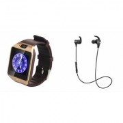 Zemini DZ09 Smart Watch and Reflect Earphone for SAMSUNG GALAXY NOTE 5 DUAL(DZ09 Smart Watch With 4G Sim Card Memory Card| Reflect Earphone)