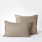 Am.pm Fronha de almofada em cânhamo lavado, Kyrabege- 63 x 63 cm